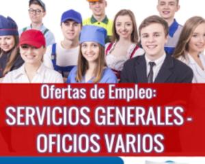 Ofertas de Trabajo en Oficios Varios - a Nivel Nacional