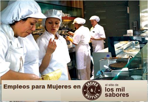 Empleos para Mujeres en Crepes & Wafles- ¡Inscriba su Hoja de Vida YA !