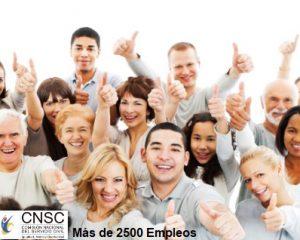 La Comisión Nacional del Servicio Civil tiene Abiertas las inscripciones para más de 2.500 empleos